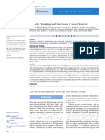 Cigarette Smoking and Pancreatic Cancer Survival(1)