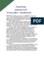 Teodoro L. Locsin, Jr on the real embarrassment of WikiLeaks