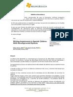 DIFICULTADES DE ESCRITURA EN DISLÉXICOS LENGUA ESPAÑOL