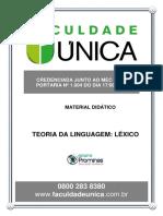 Módulo 01 - TEORIA DA LINGUAGEM - LÉXICO