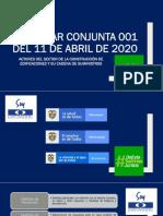CIRCULAR CONJUNTA 001 DEL 11ABR20