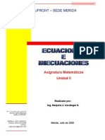 Tema II.  Ecuaciones e Inecuaciones