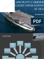 Aircraft Carrier Flight Operations at Sea