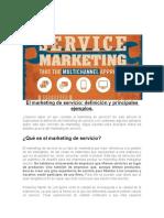 marketing de servicio ejemplo