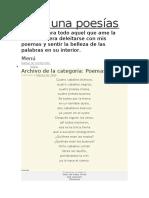 Mil y una poesías