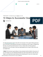 10 Steps to Successful Goal Setting