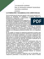 La formación y desarrollo de competencias  DOCUMENTO 2 AD16