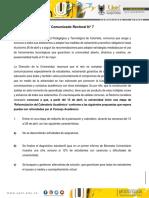 Comunicado Rectoral 7