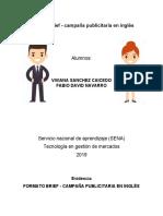 FORMATO BRIEF - CAMPAÑA PUBLICITARIA EN INGLES