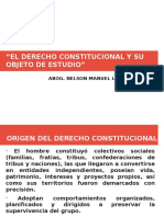 EL DERECHO CONSTITUCIONAL Y SU OBJETO DE