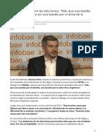 infobae.com-Marcos Peña sobre las elecciones Más que una batalla por el bolsillo va a ser una batalla por el alma