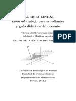 ÁLGEBRA LINEAL Libro de Trabajs y Guía Didáctica Del Docente 1