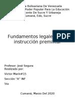 Fundamentos legales de la instrucción premilitar