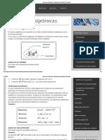 Expresiones algebraicas - Matemática Informática y Educación