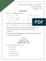 Actividad de Matemática 2°5°