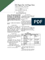 IEEE Report Format