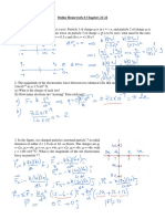Online Homework I Chaps 21 22 Sol