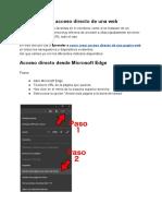 Como Crear Acceso Directo de Una Pagina Web
