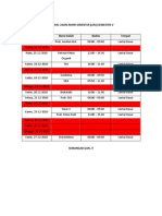 Jadwal UAS Semester 5