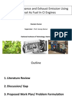 Engine Performance and Exhaust Emission Using Biodiesel PptV