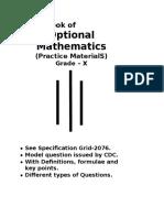 Opt Math Class X Book Mp