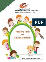 capa do relatorio