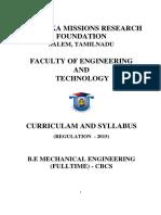 MECHANICAL ENGINEERING - R2015 - UG FT - CURRICULUM AND SYLLABUS