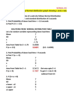 NORMAL DISTRIBUTION PROBLEMS - SOLUTION TABLE AND EXCEL 22 JAN 2020