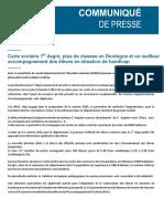 Carte Scolaire pour le 1er degré à la rentrée scolaire de 2020 en Dordogne