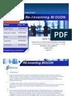 BIOCON Re Inventing