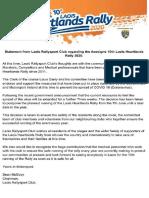 Laois Rallysport Club Press Release