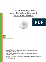 Slide - Sensor de Presença Teto