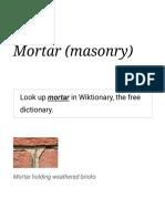 Mortar (masonry) - Wikipedia