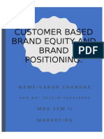 Customer Based Brand Equity and Brand Positioning..docx