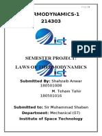 Thermodynamics-1 Semester Assignment