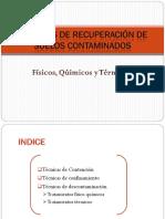 Recuperacion Suelos-metodos Fisicos, Químicos y Termicos