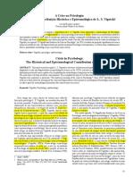 A Crise na Psicologia - Análise da Contribuição Histórica e Epistemológica de L. S. Vigotski_Lia Lordelo