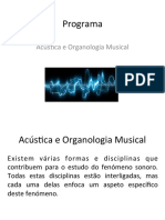 0 - Programa de Acústica e Organologia