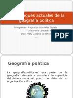 1.-Los enfoques actuales de la geografía política