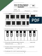 Piano Keyboard-Lesson 1-Digital Worksheet