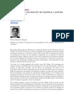 LA DECLARATORIA DE PERTENENCIA Y LA HIPOTECA Y LA PRENDA