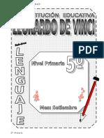 5. SETIEMBRE  – LENGUAJE - 5TO PRIMARIA