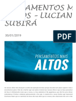 PENSAMENTOS MAIS ALTOS - Luciano Subirá