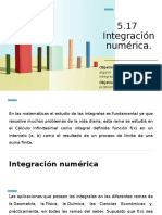 5.17 Integración Numérica.