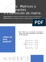 5.1 Definición de Matriz.