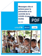 Key Messages and Actions for COVID-19 Prevention and Control in Schools_French