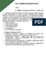 ITIL - Gestão