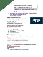 Programa Jornadas Valladolid 27 y 28 de Octubre de 2018