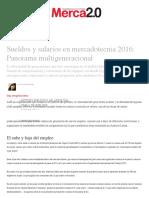 Sueldos y salarios en mercadotecnia Panorama multigeneracional