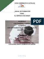 MANUAL DE FORMACIÓN SERVICIO DANZA-RCC SANTO DOMINGO